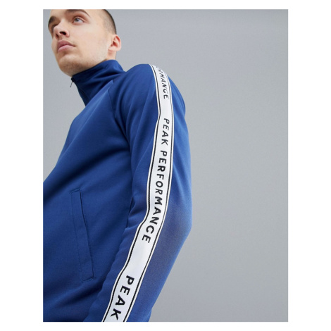 Peak Performance Tech Club Tricot Taped Track Jacket In Navy