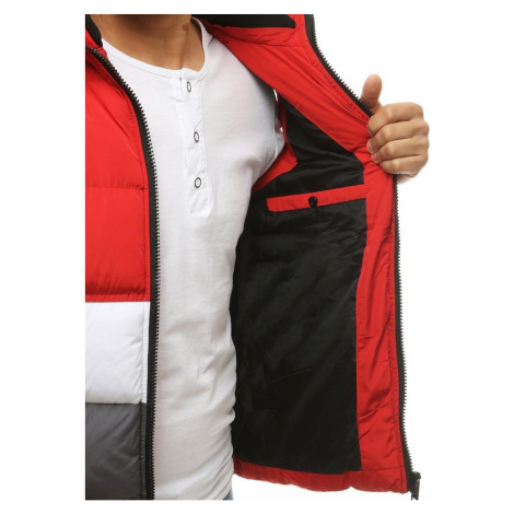 Men's quilted hooded vest red TX3378 DStreet