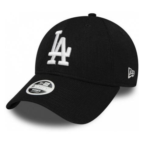 New Era 9FORTY W MLB RIBBED JERSEY LOS ANGELES DODGERS czarny  - Klubowa czapka z daszkiem damsk