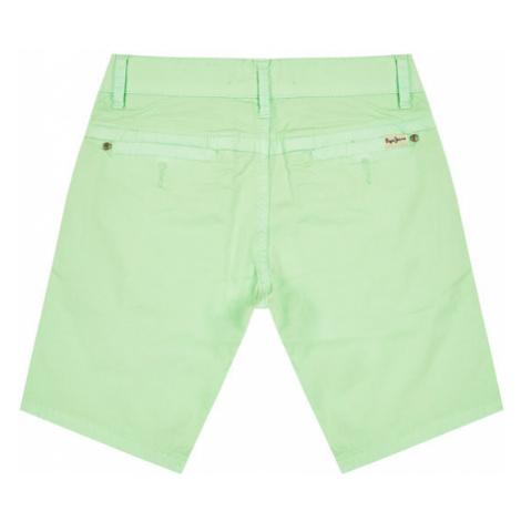 Pepe Jeans Szorty jeansowe Blueburn PB800295 Zielony Regular Fit
