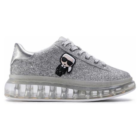 Sneakersy KARL LAGERFELD - KL62631 Heavy Glitter Silver