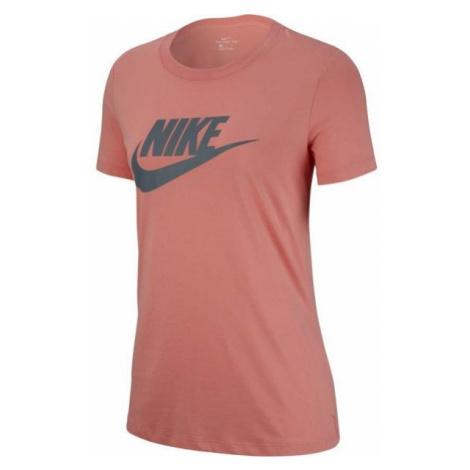 Nike NSW TEE ESSNTL ICON FUTURA pomarańczowy L - Koszulka damska