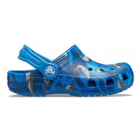 Klapki Crocs Classic Shark Clog Ps 206147 PREP BLUE