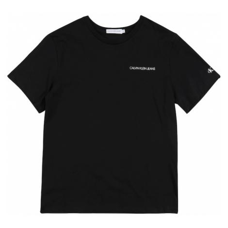 Calvin Klein Jeans Koszulka 'CHEST LOGO REGULAR SS TOP' czarny