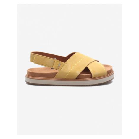TOMS Sandały Żółty