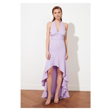 Trendyol Lilac Flywheel Suknia wieczorowa i sukienka dyplomowa