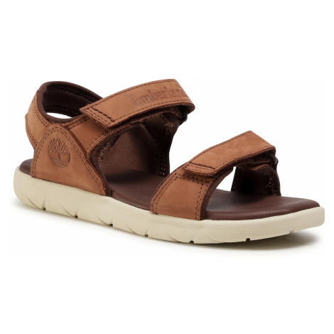 Sandały TIMBERLAND - Nubble Sandal Lthr 2 Str TB0A1RAHA20 Medium Brown Nubuck