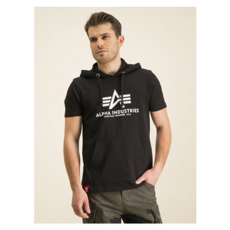 Alpha Industries Bluza Basic T Hooded 126507 Czarny Regular Fit