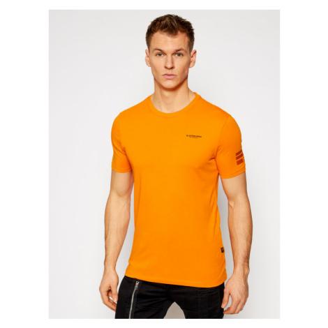 G-Star Raw T-Shirt Text Gr D17135-336-B976 Pomarańczowy Slim Fit