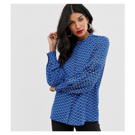 Y.A.S Tall geo print balloon sleeve blouse
