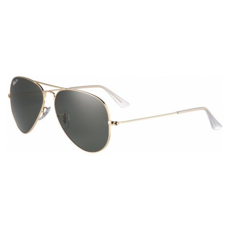 Ray-Ban Okulary przeciwsłoneczne 'Aviator' złoty / zielony