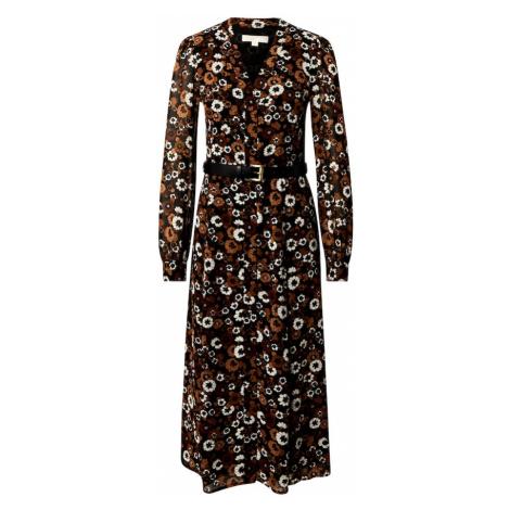 MICHAEL Michael Kors Sukienka koszulowa brązowy / biały / czarny