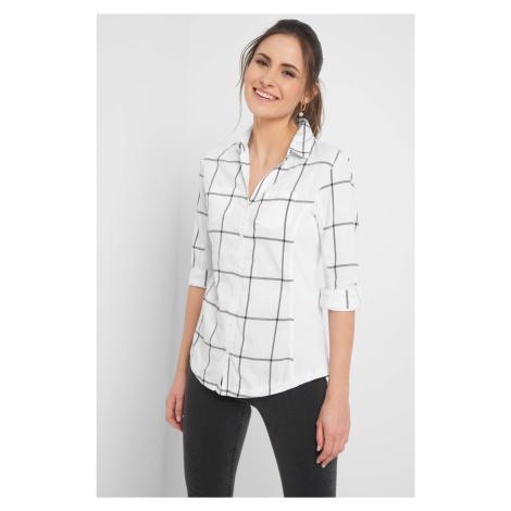 Koszula bimaterial w kratę Orsay