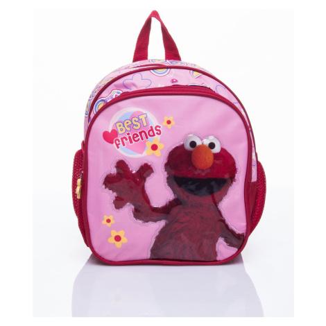 Czerwony plecak szkolny z Elmo z Muppets