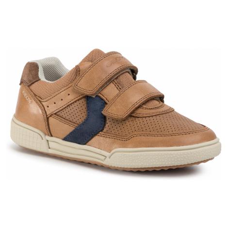 Sneakersy GEOX - J Poseido B. A J02BCA 0CLME C6N4E S Cognac/Blue
