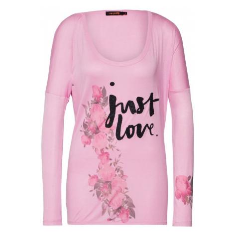 Miss goodlife Koszulka oversize jasnoróżowy / czarny