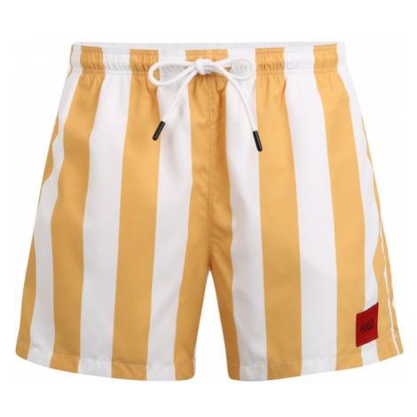 HUGO Szorty kąpielowe 'Santa Cruz' biały / pomarańczowy Hugo Boss