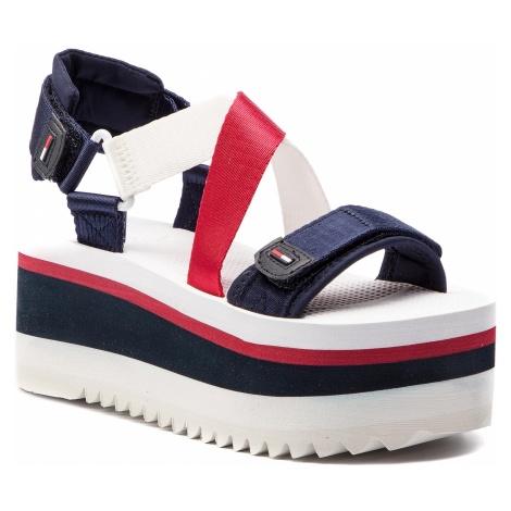 Sandały TOMMY JEANS - Sporty Neoprene Flatform Sandal EN0EN00466 Rwb 020 Tommy Hilfiger