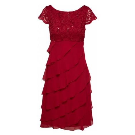 SWING Sukienka koktajlowa czerwone wino