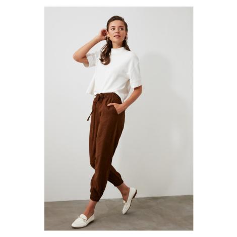 Trendyol Brown Clamping Detailed Pants