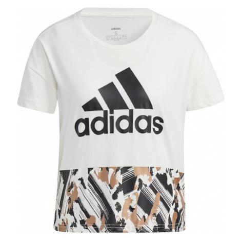 ADIDAS PERFORMANCE Koszulka funkcyjna czarny / brązowy / biały