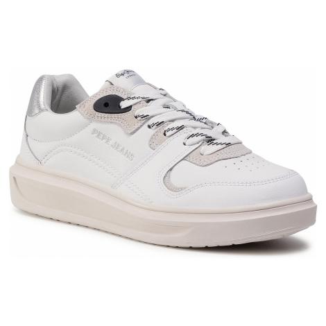 Sneakersy PEPE JEANS - Abbey Skate PLS31054 White 800