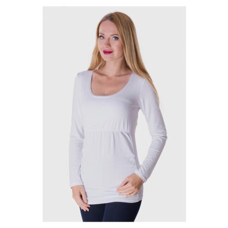 Białe koszulki, podkoszulki i bluzki ciążowe