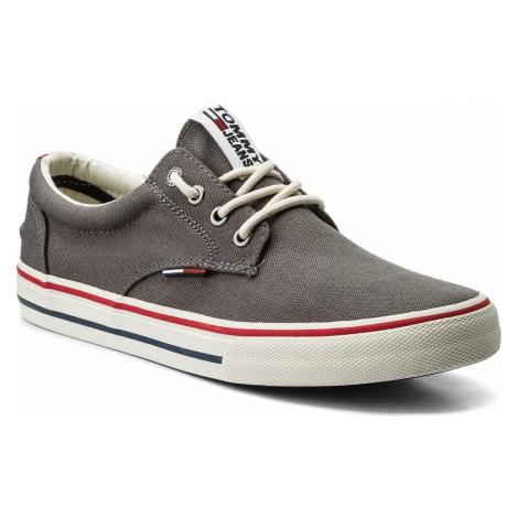 Tenisówki TOMMY JEANS - Textile Sneaker EM0EM00001 Steel Grey 039 Tommy Hilfiger