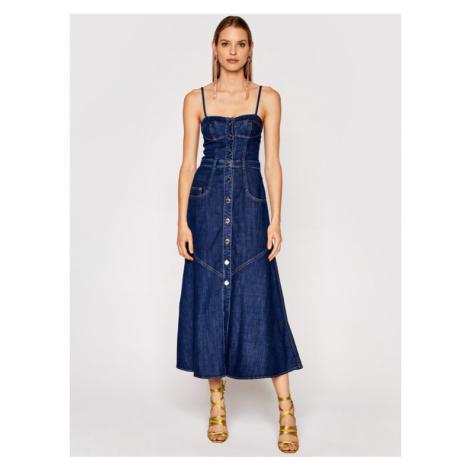 Pinko Sukienka jeansowa Poppy 1J10LA Y6KB Granatowy Regular Fit