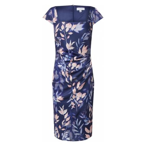 Dorothy Perkins Sukienka 'LILLIE AND FRANK NAVY FLORAL SQUARE NECK DRESS' mieszane kolory / gran