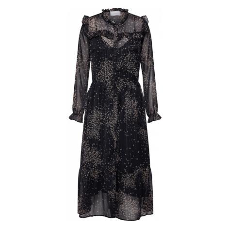 Neo Noir Sukienka koszulowa 'Lena Printed Dress' czarny / szary