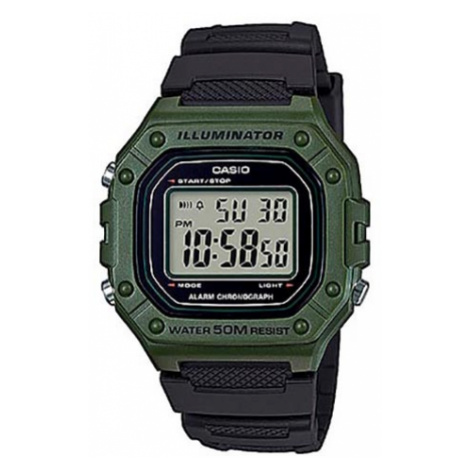Zegarek CASIO - W-218H-3AVEF Black/Green