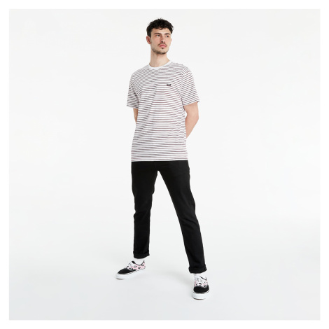 Vans Off The Wall Stripe SS Tee White/ Rhododendron