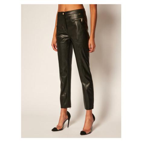 Armani Exchange Spodnie skórzane 6HYP11 YNKNZ 1200 Czarny Slim Fit