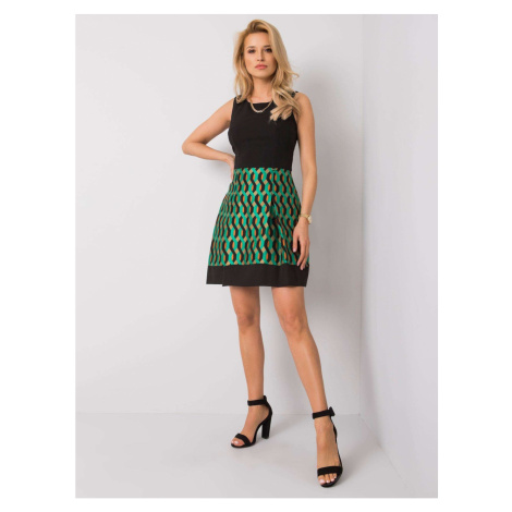 Black and green dress