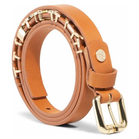 Pasek Damski TRUSSARDI JEANS - Belt H. 1,5 Leather Lettering Charm 75L00098 B660