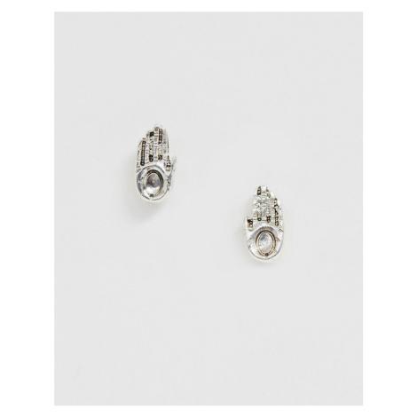 Icon Brand hand earrings in silver