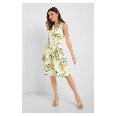 Kopertowa sukienka w kwiaty Orsay