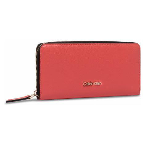 Duży Portfel Damski CALVIN KLEIN - Ck Must Ziparound Wallet Lg Cav K60K606655 XA4