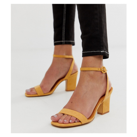 Mango two part mid sandals in yellow