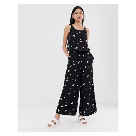 Selected Femme cami printed jumpsuit
