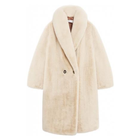 MANGO Płaszcz zimowy 'Chilly' cielisty