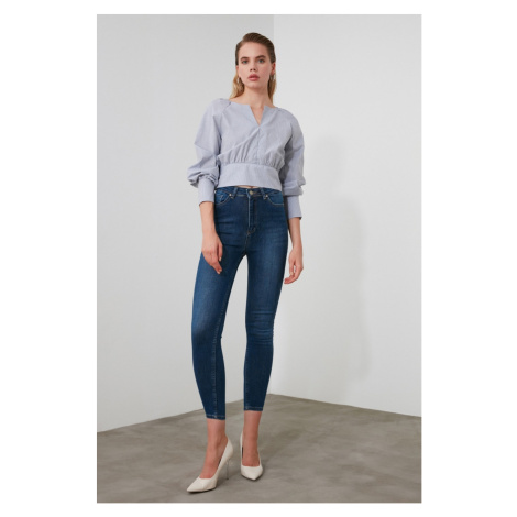 Trendyol Blue High Waist Skinny Jeans
