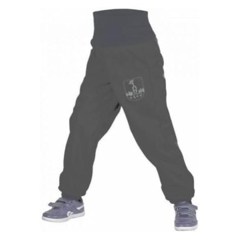 Unuo chłopięce spodnie softshell z polarem czarne