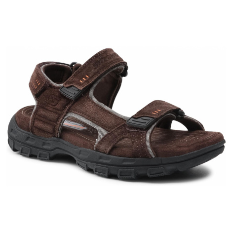 Sandały SKECHERS - Alec 64640/BRN Brown