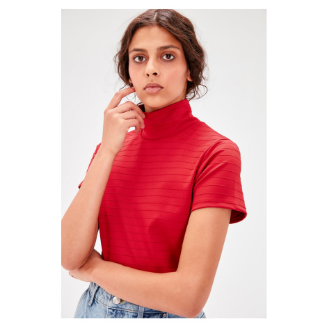 Trendyol Red Back Decolletage Knitted Blouse