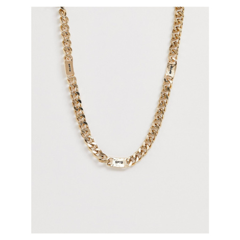 WFTW chunky neck chain in gold