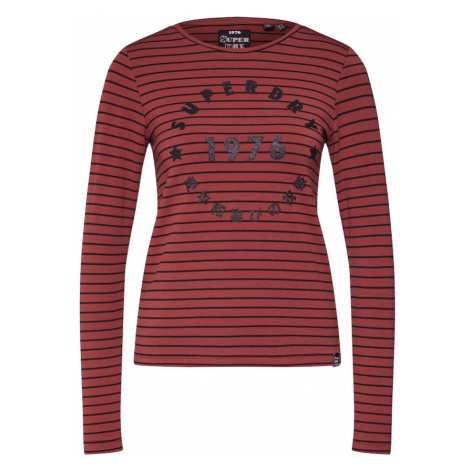 Superdry Koszulka 'ADELINA GRAPHIC TOP' czerwone wino