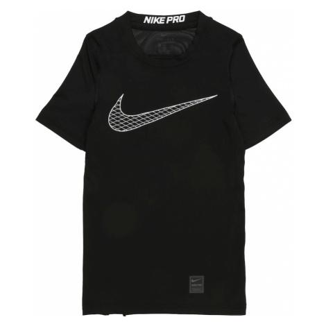 NIKE Koszulka funkcyjna 'Boys' Nike Pro Top' czarny / biały