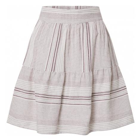 VERO MODA Spódnica 'VMHAZEL' biały / czerwony